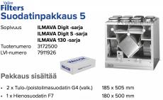 Alkuperäinen Vallox ILMAVA DIGIT/DIGIT S/130 suodatinpakkaus nro 5