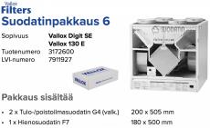 Alkuperäinen Vallox ILMAVA DIGIT SE/130 E suodatinpakkaus nro 6