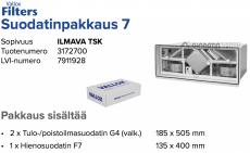 Alkuperäinen Vallox ILMAVA TSK suodatinpakkaus nro 7