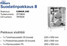 Alkuperäinen Vallox ILMAVA 240 suodatinpakkaus nro 8