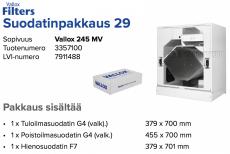 Alkuperäinen Vallox 245 MV suodatinpakkaus nro 29