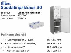 Alkuperäinen Vallox Aito Kotilämpö suodatinpakkaus nro 30