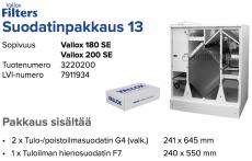 Alkuperäinen Vallox 180 SE/200 SE suodatinpakkaus nro 13