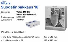 Alkuperäinen Vallox 140 SE/150 Effect SE suodatinpakkaus nro 16