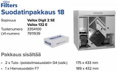 Alkuperäinen Vallox DIGIT 2 SE / 132 E suodatinpakkaus nro 18