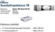 Alkuperäinen Vallox TSK Multi 50 SC suodatinpakkaus nro 19